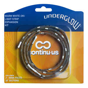 Continu-us  Underglow  40 in. L White  Plug-In  LED  Tape Light  2 pk