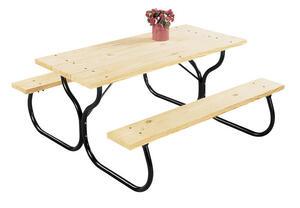 Jack Post Steel Picnic Table Frame Fiesta Charm Black Ace Hardware - Steel picnic table frame