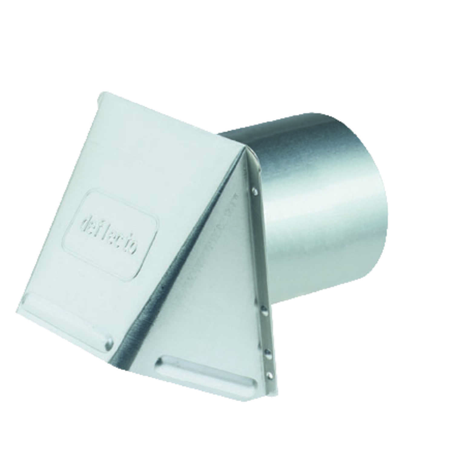 DeFlect-O  6 in. Dia. Wall Cap With Damper  Aluminum