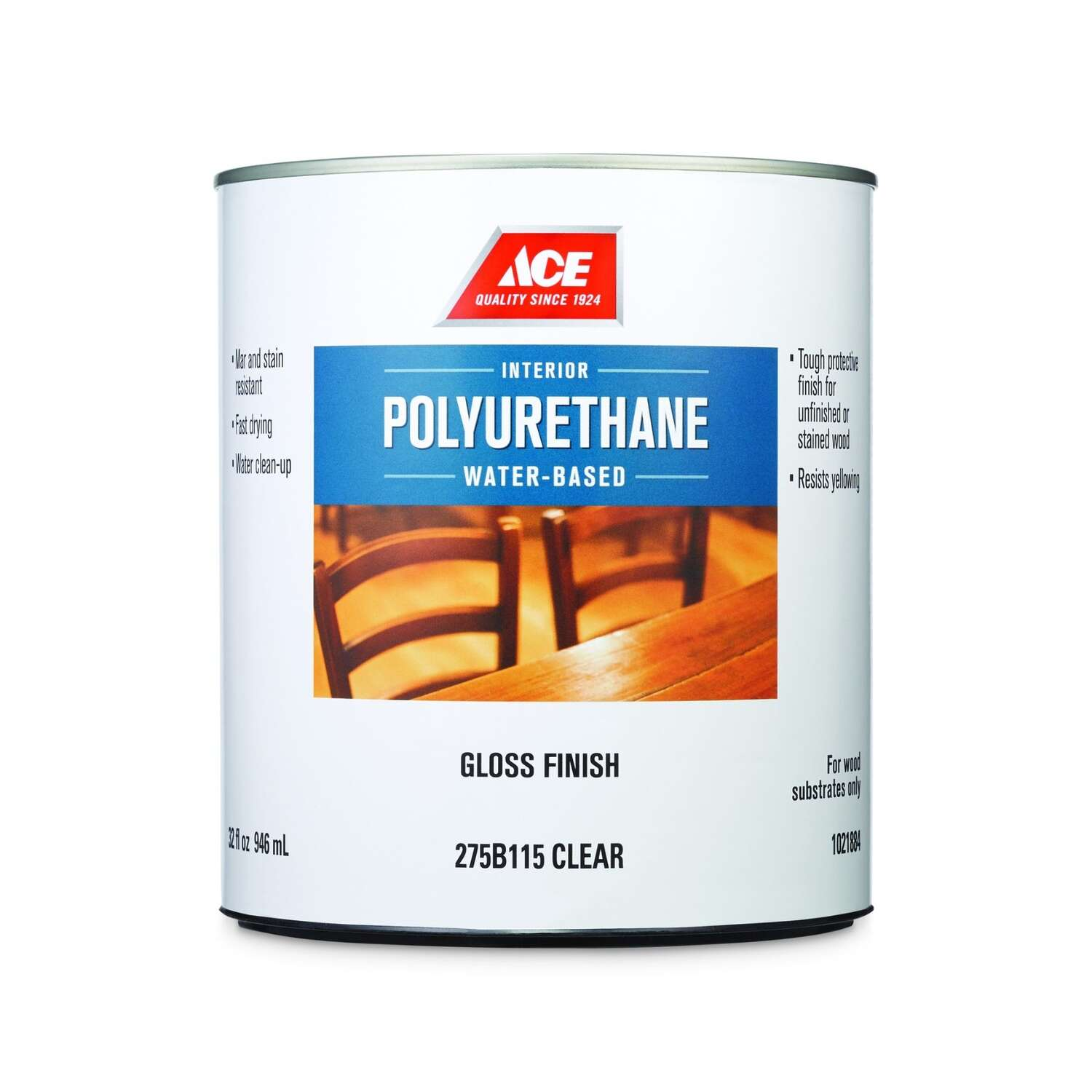 Ace  Gloss  Clear  Polyurethane  1 qt.