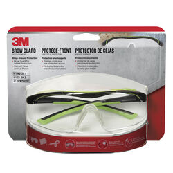3M  Anti-Fog Safety Glasses  Clear Lens Black/Green Frame 1 pc.