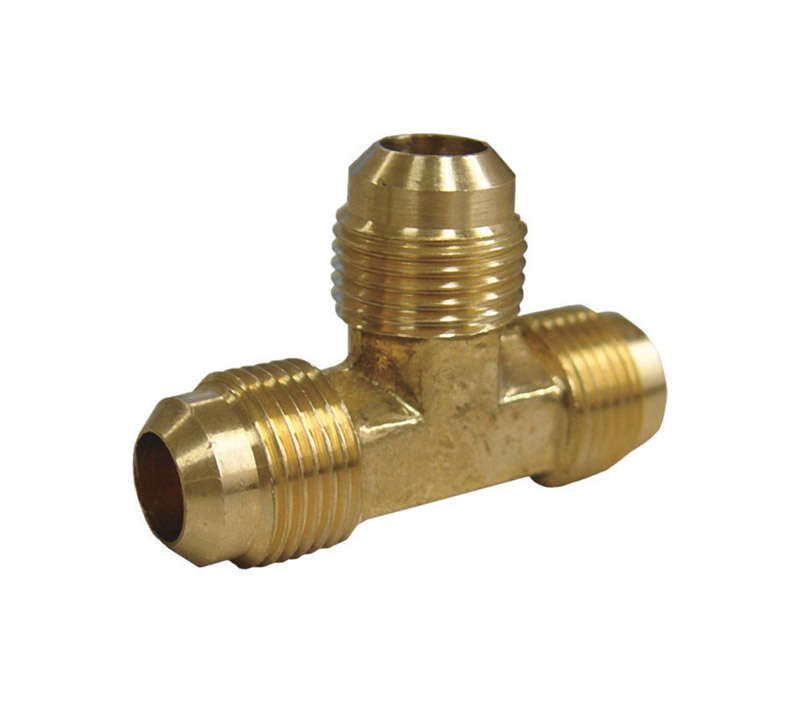 JMF 5/8 in. Flare x 5/8 in. Dia. Flare Brass Reducing Tee