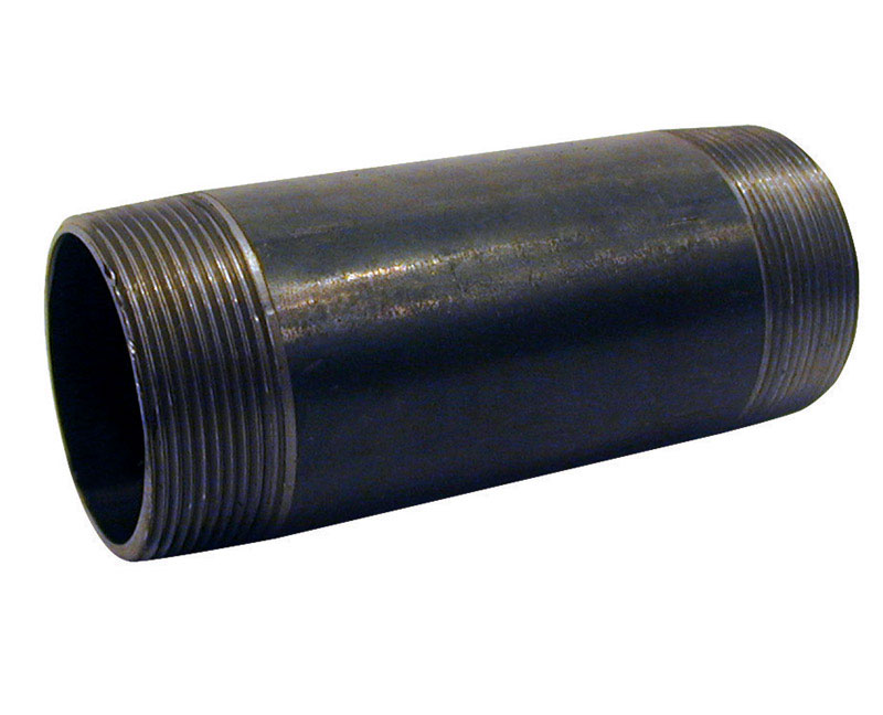 Mueller  3/4 in. MPT   x 3/4 in. Dia. x 8-1/2 in. L MPT  Black  Steel  Pipe Nipple