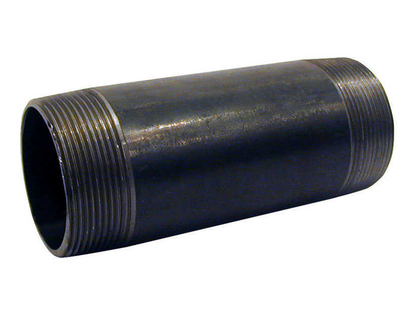 Mueller  Southland  3/4 in. MPT   x 3/4 in. Dia. x 8-1/2 in. L MPT  Black  Steel  Pipe Nipple