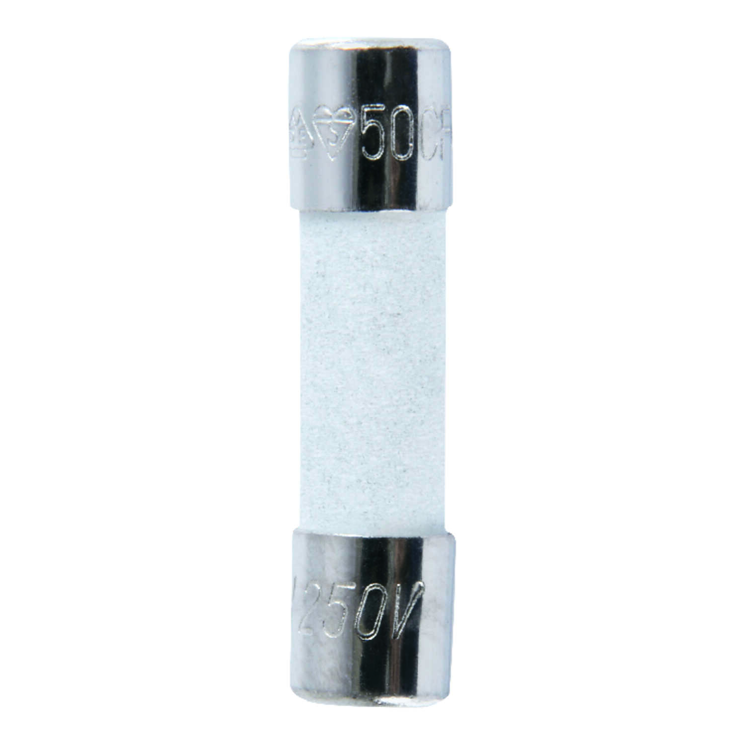 Jandorf  S501  8 amps 250 volts Ceramic  Fast Acting Fuse  2 pk