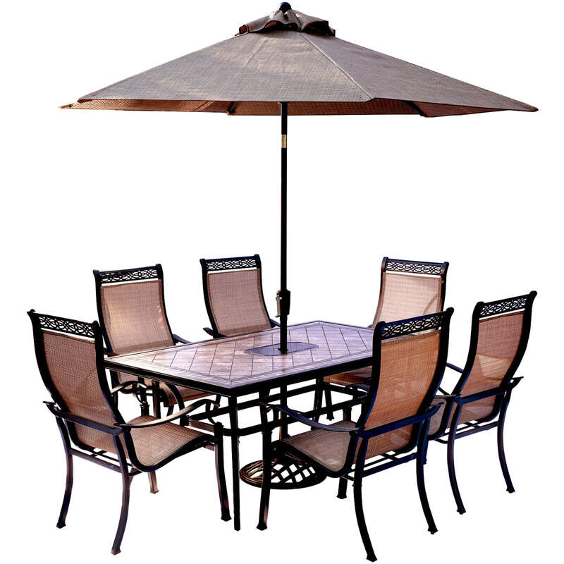 Hanover  Monaco  Monaco  7 pc. Bronze  Aluminum  Patio Set