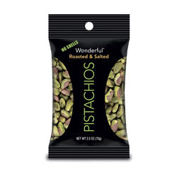 Wonderful  No Shell  Roasted/Salted  Pistachios  2.5 oz. Pegged