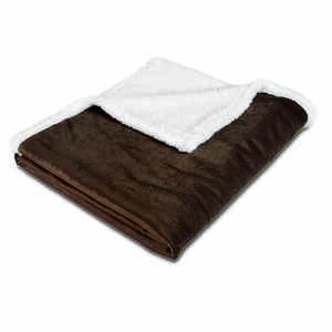Animal Planet  Brown/Pewter  Sherpa  Rectangle  40 in. L x 50 in. W Blanket