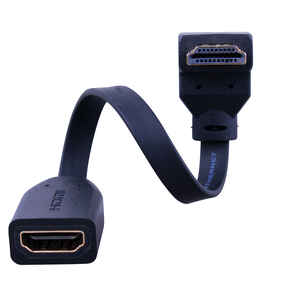 Monster Cable  Just Hook It Up  Flat Bottom HDMI Angle Adapter  1 pk