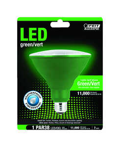 FEIT Electric  7 watts PAR38  LED Bulb  1400 lumens Green  120 Watt Equivalence Spotlight