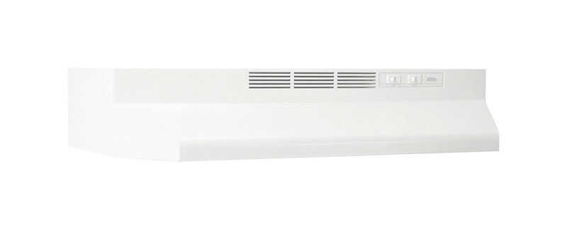Broan  White  30 in. W Range Hood