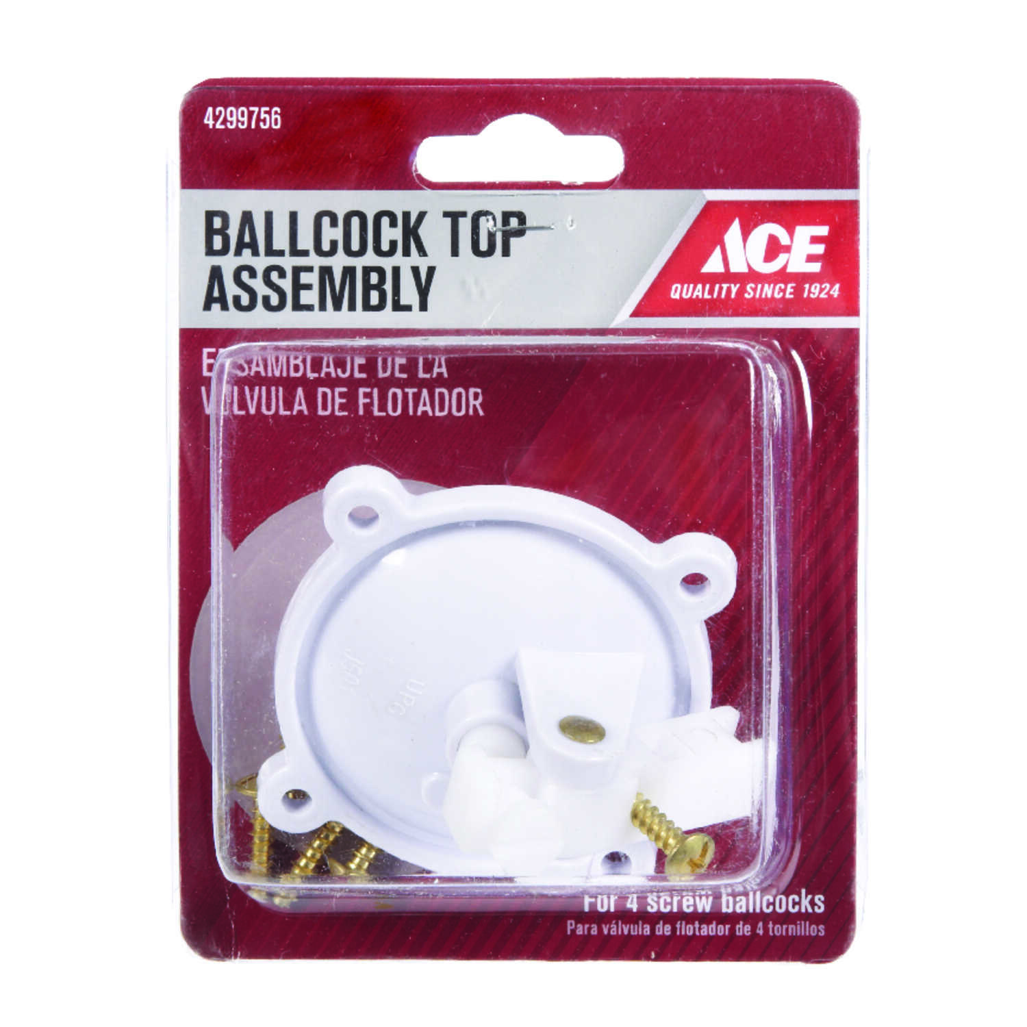 Ace  Ballcock Top Assembly  Plastic