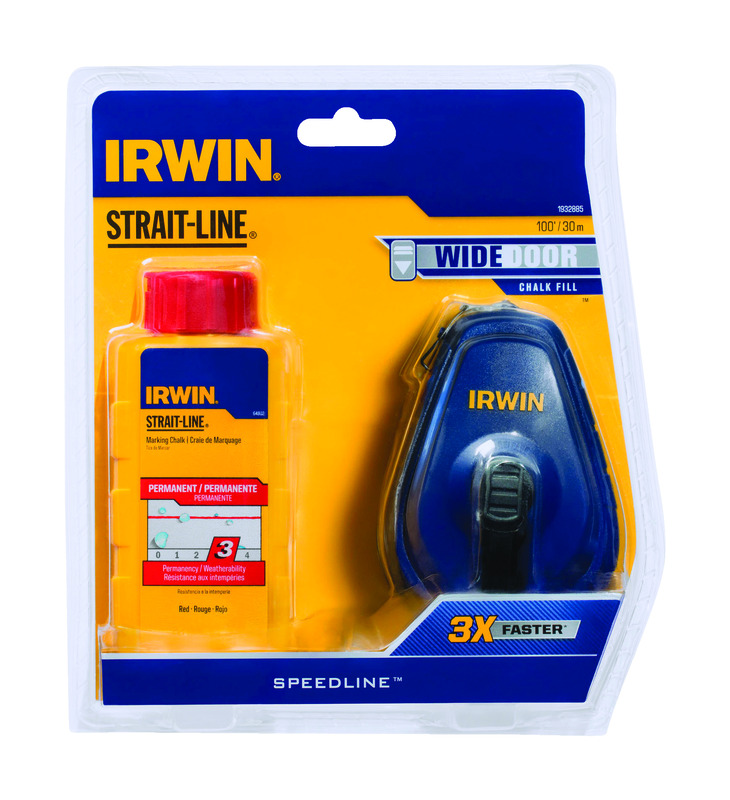 Irwin  Strait-Line  Chalk and Reel Set  100 ft.
