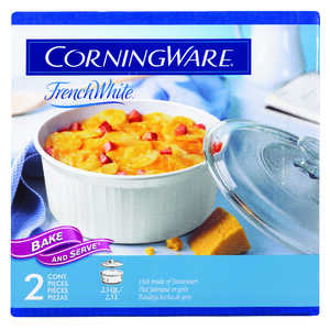 Corningware  10 in. W x 10 in. L Casserole Pan  White