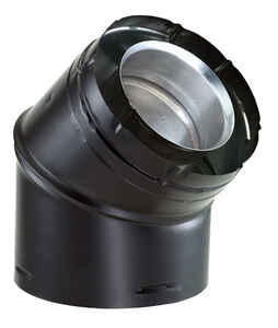 Duravent  4 in. Dia. x 6-5/8 in. Dia. 45 deg. Aluminum/Galvanized Steel  Elbow Exhaust