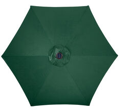 Living Accents  9  Tiltable Hunter Green  Market  Umbrella