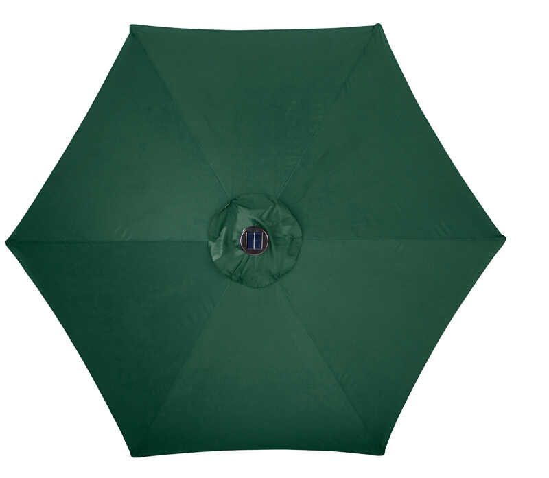 Living Accents  MARKET  9 ft. Tiltable Hunter Green  Patio Umbrella