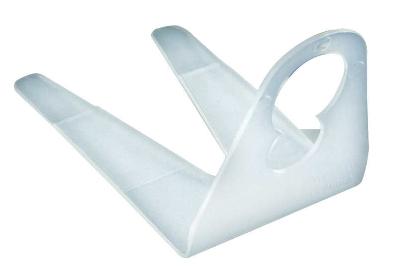 Dyno  Commerical Shingle  Light Clips  White  Plastic  100 pk