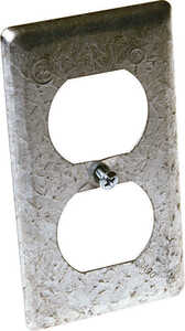 Raco  Rectangle  Steel  1 gang Box Cover  For 1 Duplex Receptacle