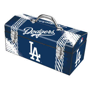Windco  16.25 in. Steel  LA Dodgers  Art Deco Tool Box  7.1 in. W x 7.75 in. H