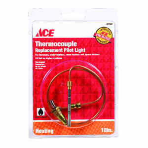 Ace  18 in. L 24 volt Universal Thermocouple