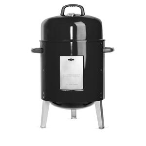 Masterbuilt  21.65 in. W Charcoal/Wood  Smoker  Black  Bullet