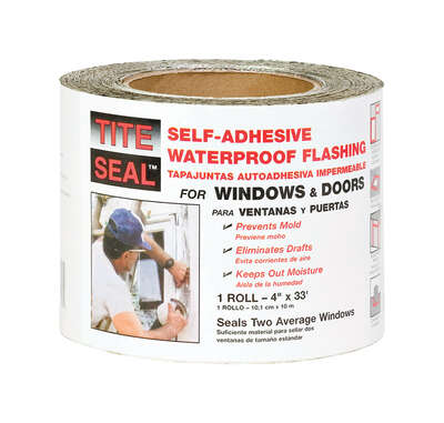 Tite Seal  4 in. W x 33 ft. L Rubber  Self-Adhesive Waterproof Flashing  White