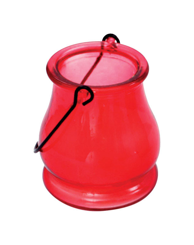 Patio Essentials  Red  Candle with Holder  Wax  For Mosquitoes/Other Flying Insects 5 oz.