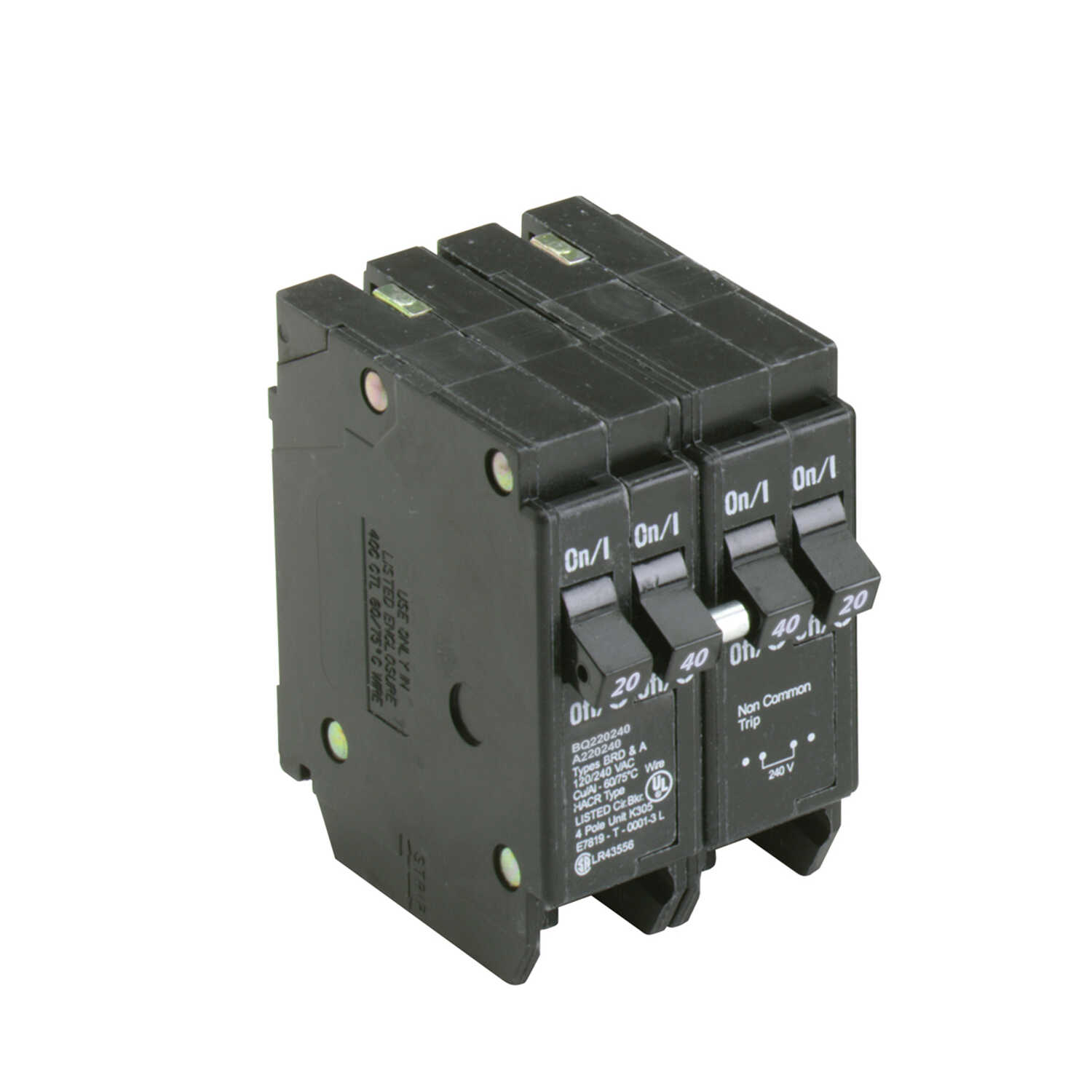 Eaton  Cutler-Hammer  20/40 amps Plug In  4-Pole  Circuit Breaker