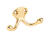 Ives  Small  Bright Chrome  Brass  1-1/8 in. L Double Garment Hook  35 lb. 1 pk