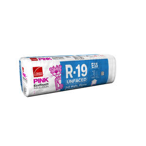Owens Corning  15 in. W x 93  L 19  Unfaced  Insulation  Batt  77.5 sq. ft.