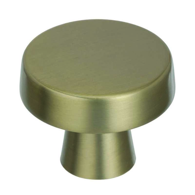 Amerock  1-5/8 in. Dia. Oblong  Cabinet Knob  Blackrock Collection  1-5/16 in. 1 pk