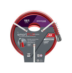 Ace  SmartFLO  3/4 in. Dia. x 100 ft. L Contractor  Garden Hose