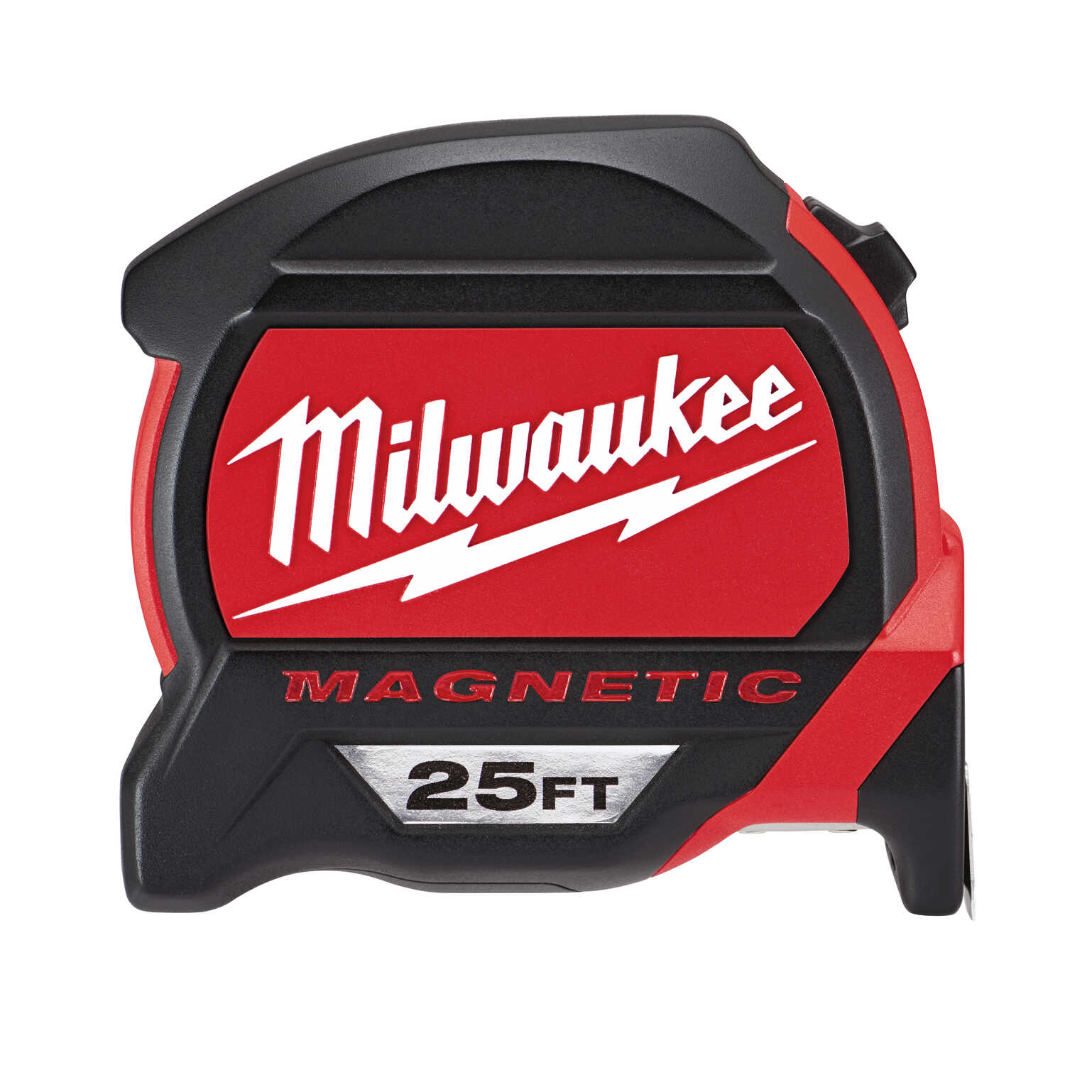 Milwaukee  25 ft. L Magnetic Tape Measure  Red/Black