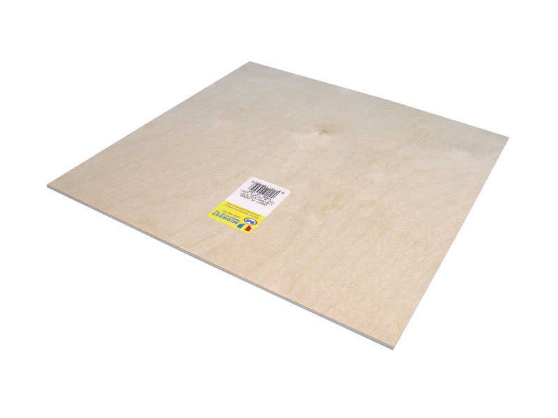 Midwest Products  12 in. W x 12 in. L x 1/8 in.  Plywood