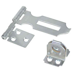 National Hardware  Zinc-Plated  Aluminum/Steel  3 in. L Double Safety Hasp