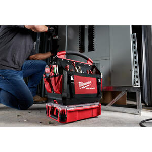 Milwaukee  PACKOUT  9.72 in. L x 15.24 in. W x 4.61 in. H Storage Organizer  Impact-Resistant Poly