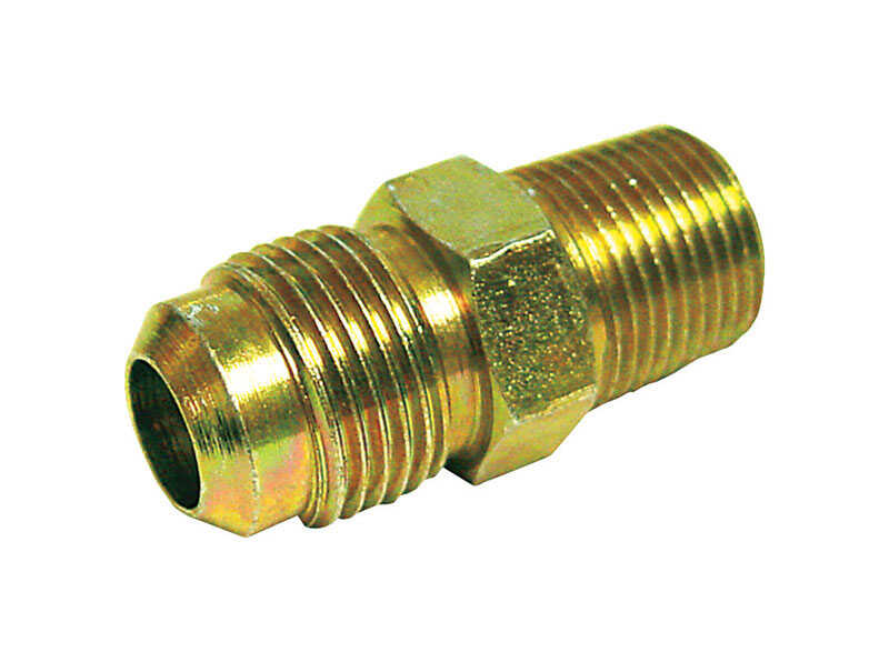 JMF  3/8 in. Flare   x 3/8 in. Dia. Male  Brass  Flare Adapter