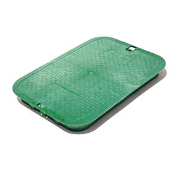 NDS  11-5/8 in. W x 2 inches  H Rectangular  Valve Box Cover  Green