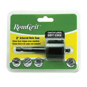 Disston  RemGrit  7/8 in. L x 2 in. Dia. Carbide Grit  Hole Saw  1/4 in. 1 pc.