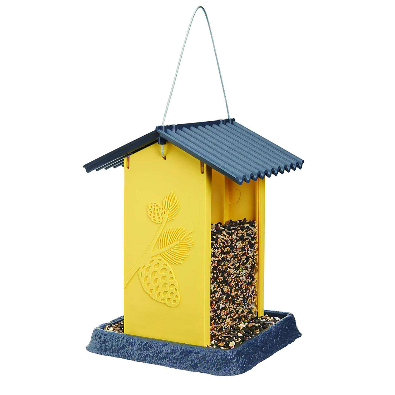 North States  Pinecone  Wild Bird  4.25 lb. Plastic  Hopper  Bird Feeder  4 ports