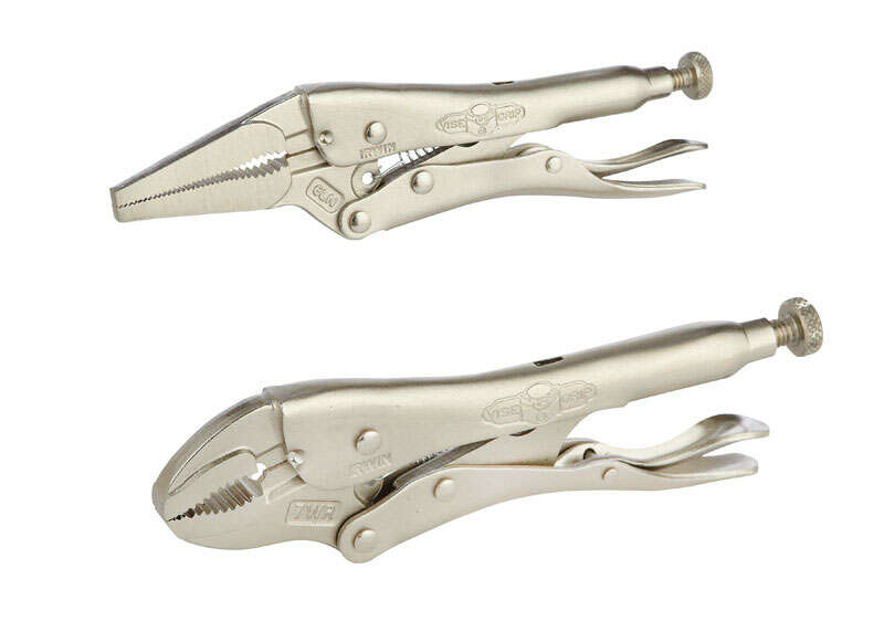 Irwin  6 & 7 in. Locking Pliers Set  Gray  2 pk Alloy Steel