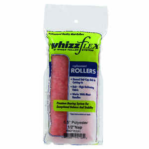 Whizz  Polyester  1/2 in.  x 6.5 in. W Mini  Paint Roller Cover  2 pk