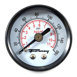 Forney  Plastic  Rear Mount  Air Pressure Gauge  1/8 in. NPT  160 psi 1 pc.