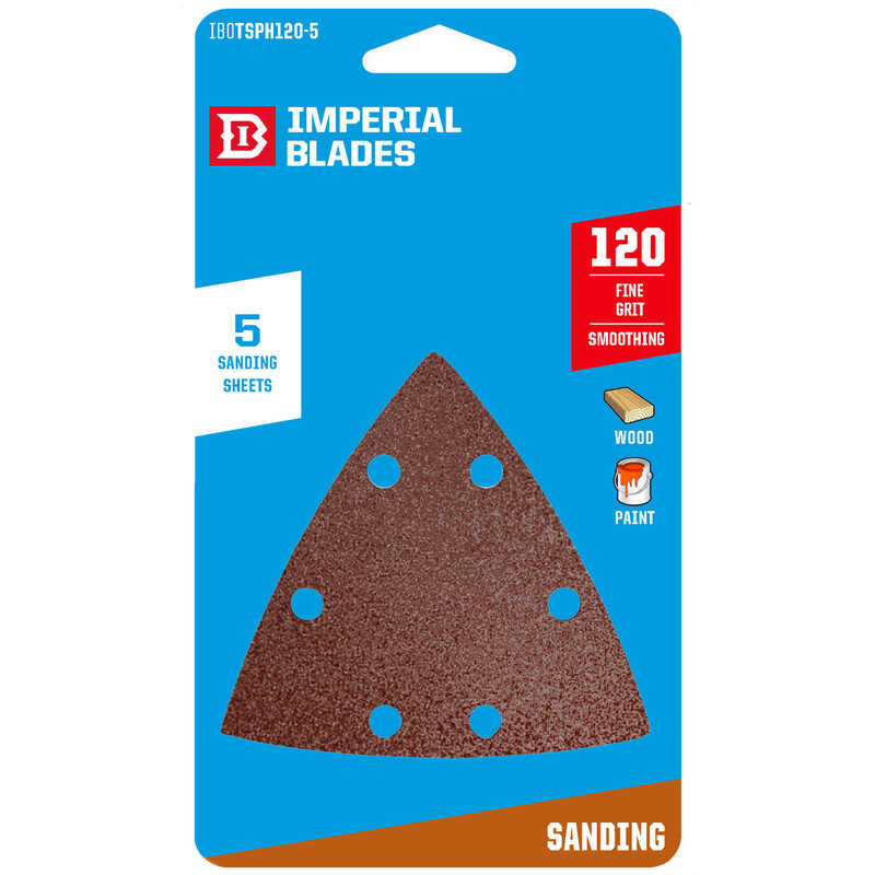 Imperial Blades  2 in. W 120 Grit Medium  Emery  Vacuum Hole Sandpaper  5 pk
