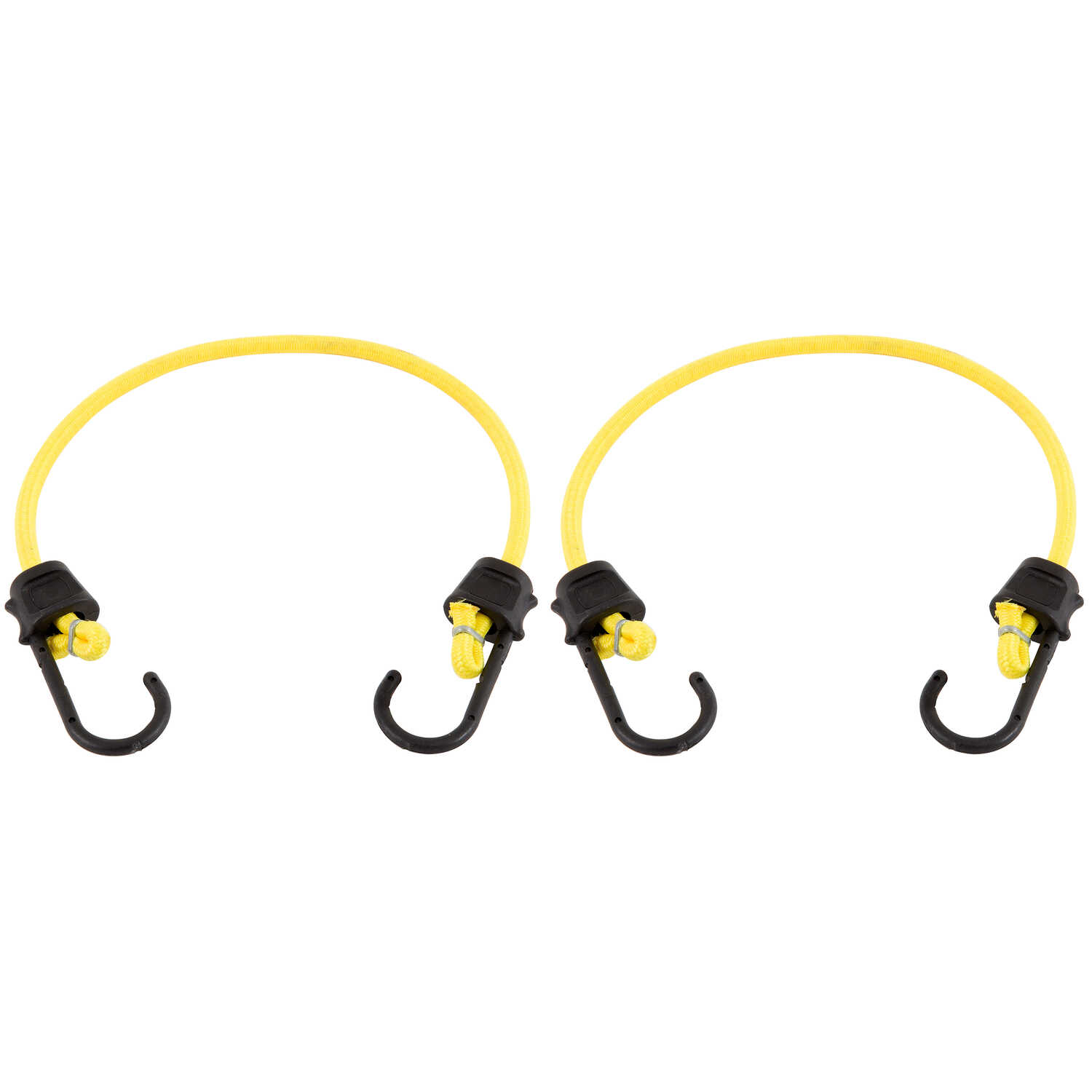 Keeper  Yellow  Bungee Cord  24 in. L x 0.315 in.  2 pk