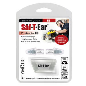 Etymotic  Saf-T-Ears HD  20 dB Ear Plugs  Black  1 pair