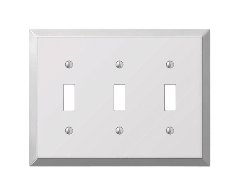 Amerelle  Polished Chrome  3 gang Toggle  Stamped Steel  1 pk Wall Plate