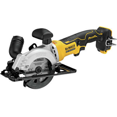 DeWalt  Atomic  4-1/2 in. Cordless  20 volt Compact Circular Saw  Bare Tool  4500 rpm