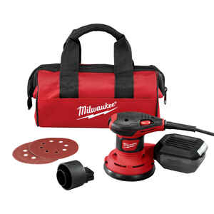 Milwaukee  Corded  Random Orbit Palm Sander  3 amps 120 volt 12000 opm Red  5 in. Kit